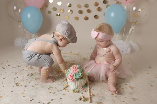 Twins cake smash 44