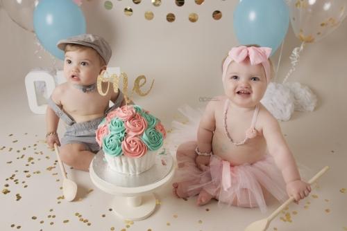Twins cake smash 6